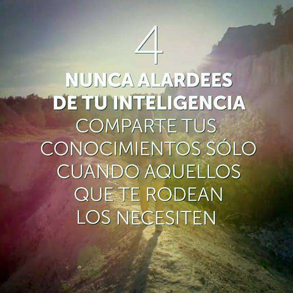 Nunca alardees de tu inteligencia